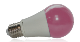 Ampoule LED E27 9W Rose